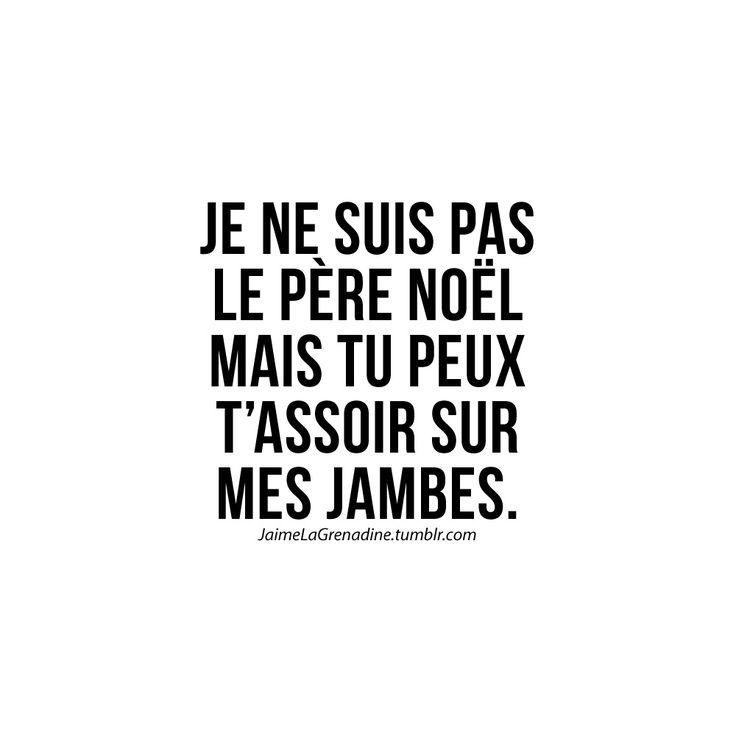 Je ne suis pas le père noël mais tu peux t'assoir sur mes jambes - #JaimeLaGrenadine >>> https://www.facebook.com/ilovegrenadine >>> https://instagram.com/jaimelagrenadine_off
