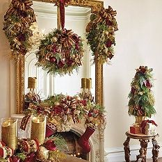 Pre-Decorated Greenery - Decorated Garland - Decorated Wreaths - Pre-Decoarated Christmas Wreath - Pre-Decoarated Christmas Garland - Frontgate