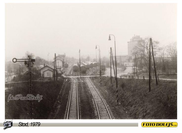 1979 Stod, pohled na nádraží, foto Pavel Dolejš.