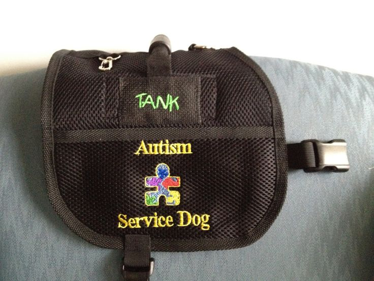 Service Dog Vest, pocket, handle, Embroidered Pockets close with velcro,  cardholder clip on, Custom Embroidery offered by SewServiceDogs on Etsy