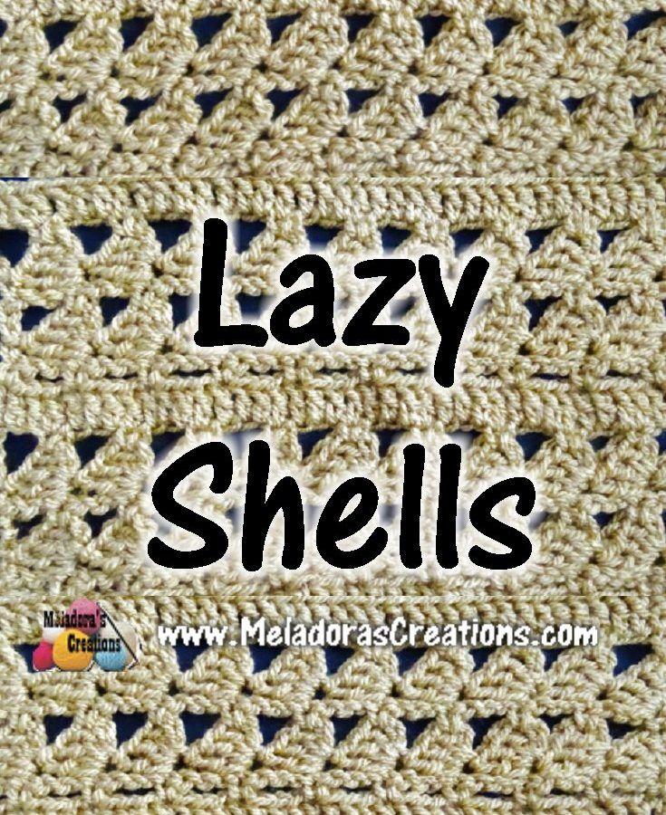 Meladoras Creations   Diamond Lace Crochet Stitch – Crochet Tutorials and Chart