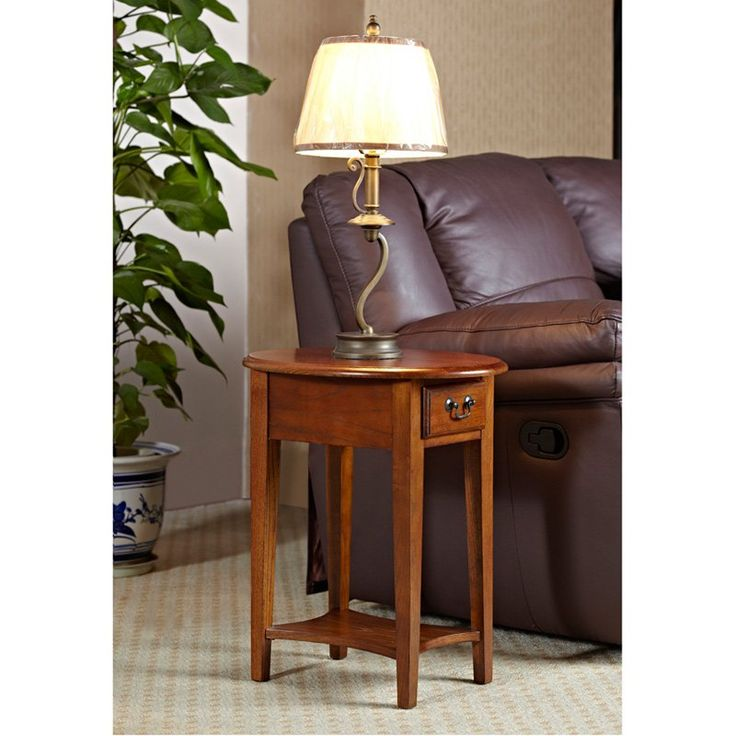 Have to have it. Oval Oak End Table - $109 @hayneedle