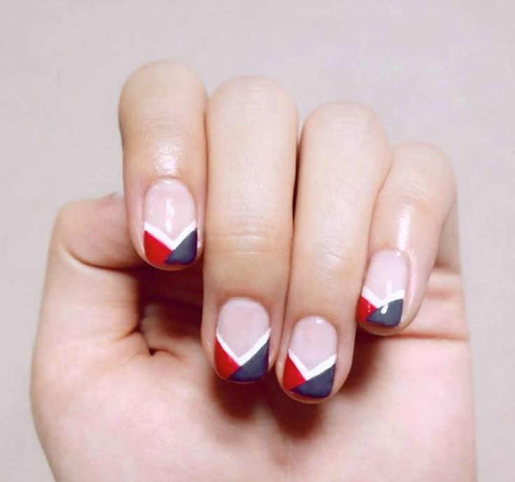 traditional Korean pattern inspired nails