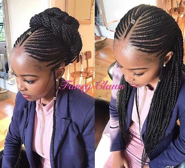 Stunningly Cute Ghanaian Braids Styles For 2019 Wedding Digest Naija Blog Cool Braid Hairstyles Cornrow Hairstyles Braided Hairstyles