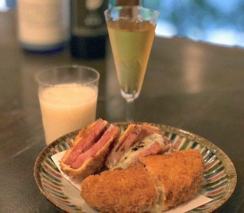 <ブルーチーズハムカツ>日本酒に合う、簡単★和のチーズおつまみレシピ