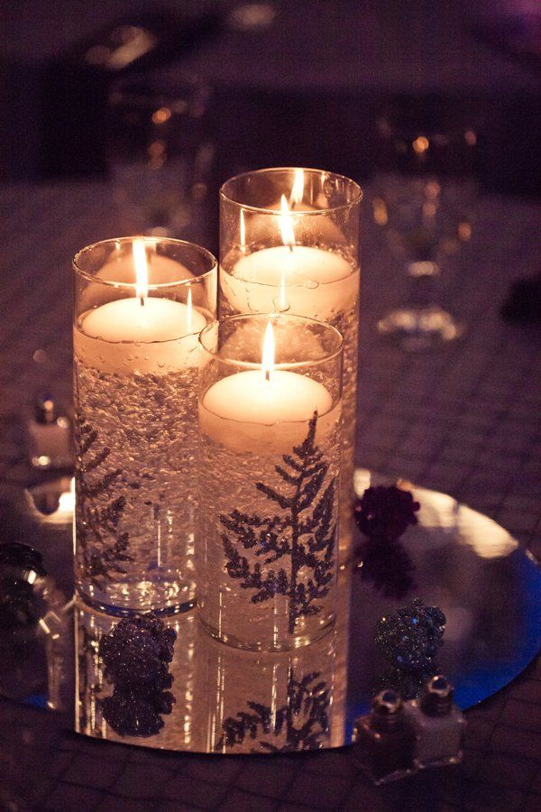 DIY winter wedding decor... but could use other design. Simple.