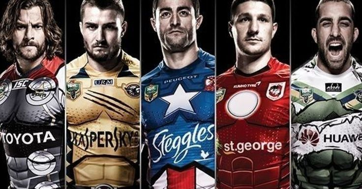 Rugby Jersey NRL Marvel themed Jerseys These Might Be the Coolest (and Geekiest) Sports Jerseys Ever