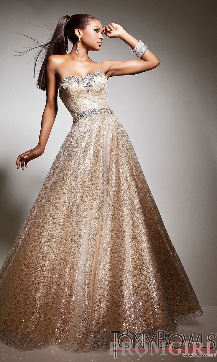 This Dazzling 2017 Tony Bowls Prom Dress Long 113513 Is Chic And Modern With Its Strapless Sweetheart Neckline