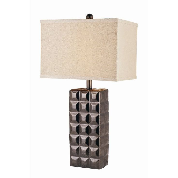 Bel air lighting autumn mink ceramic table lamp with cream shade lowes canada