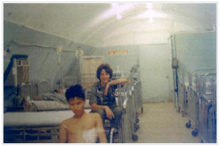 Sheila Edmonds Long, 85th Evacuation Hospital in Qui Nhon, Vietnam in July 1966.
