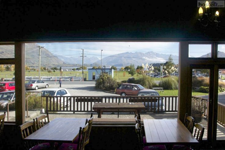 Not a bad view, hey? At the Wanaka Purple Cow YHA