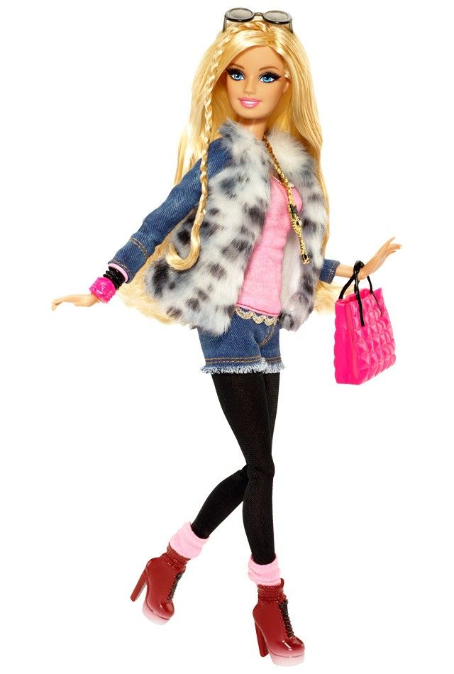 Barbie Style Barbie Doll Faux Fur Jacket Doll Fashion Pinterest