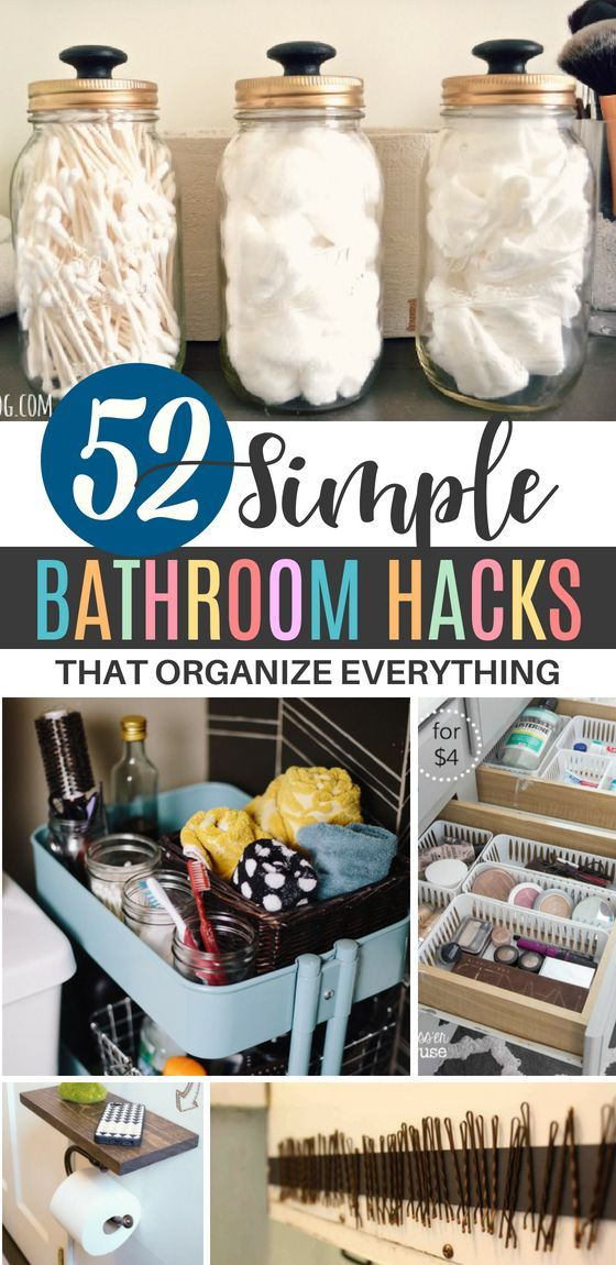 52 Laughably Easy Bathroom Organization Hacks You Need