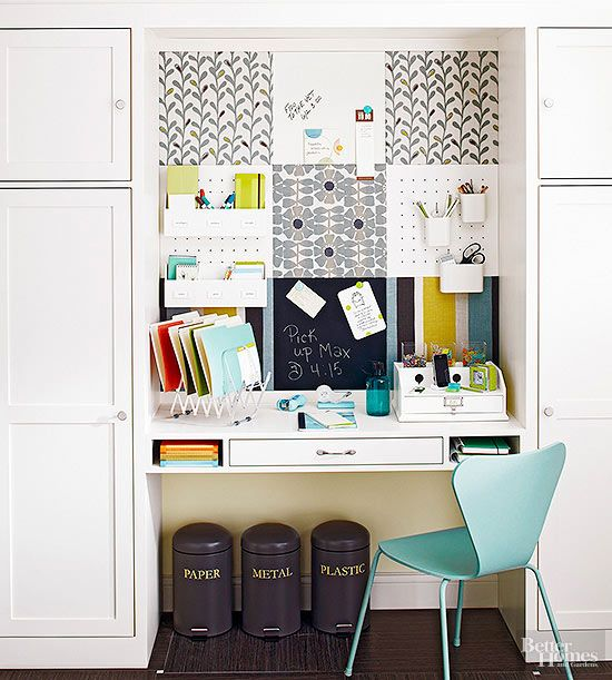 Organize, sort, and store bills, receipts, and other documents with these storage ideas that include document trays, filing cabinets, wall files, cork boards and more!