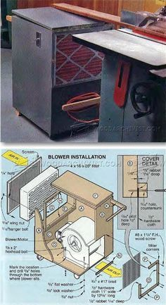Build Shop Air Cleaner - Dust Collection Tips, Jigs and Fixtures   WoodArchivist.com