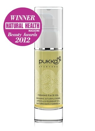 Firming face oil: Organic Starflower, Arnica & Rosehip Mature Skin Formula - Pukka Herbs incredible organic herbs