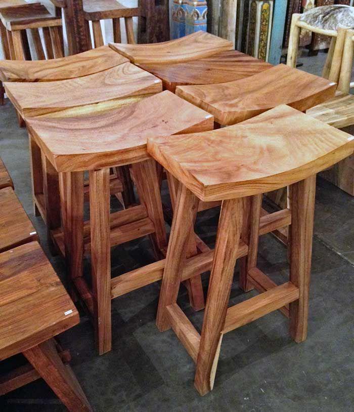 Acacia Wood Bar Stool Impact Imports of Boise Philadelphia