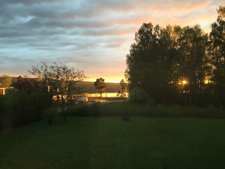 Solnedgång, sommarkväll