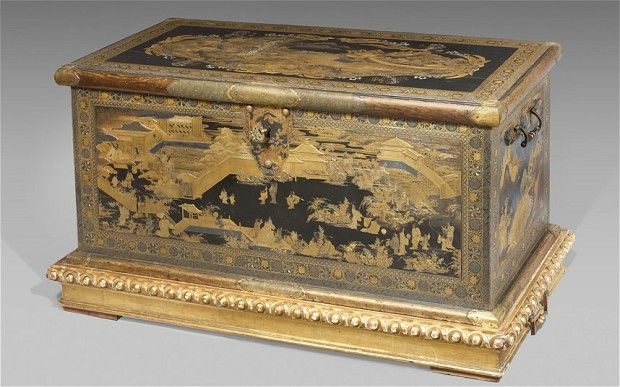 Imagine discovering that your TV stand is a priceless Japanese antique! #antiques #japan #tv