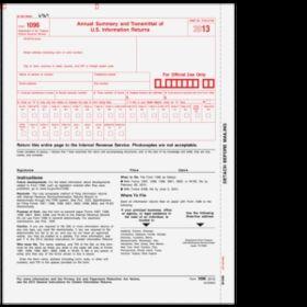Super Forms 1096 Transmittal Form - 1up (B109605)