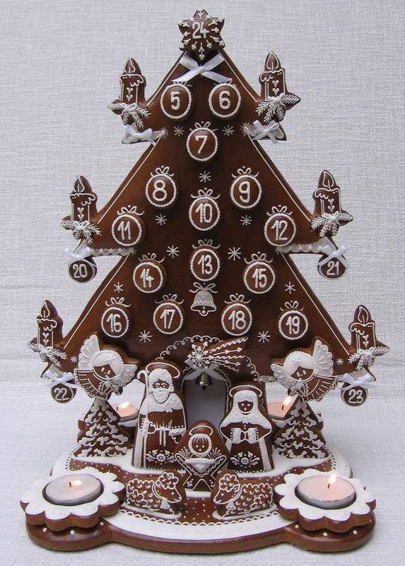 http://perniky.artmama.cz vánoce adventí strom bílý - edible advent calendar!