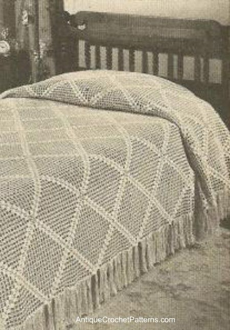 Diagonal Bedspread - Free Crochet Pattern for a Bedspread
