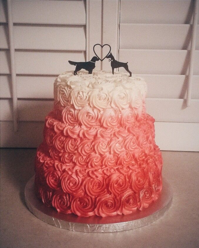 qfc wedding cakes pink ombre wedding cake cakes 18933