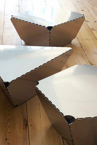 Max Lamb   Steel Sheet Tables   2008, Steel   Edition of 10   FUMI Commission http://www.galleryfumi.com/Artists/Max-Lamb/