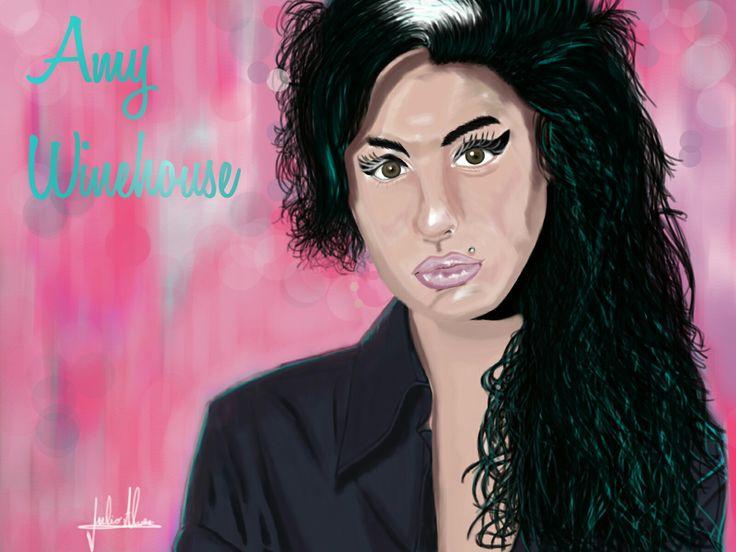 Amy Winehouse retrato digital