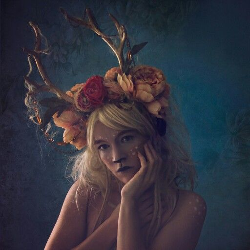 I loved this! Believe it or not, it's a selfie! With faun / deer make up and a headpiece I made myself :)