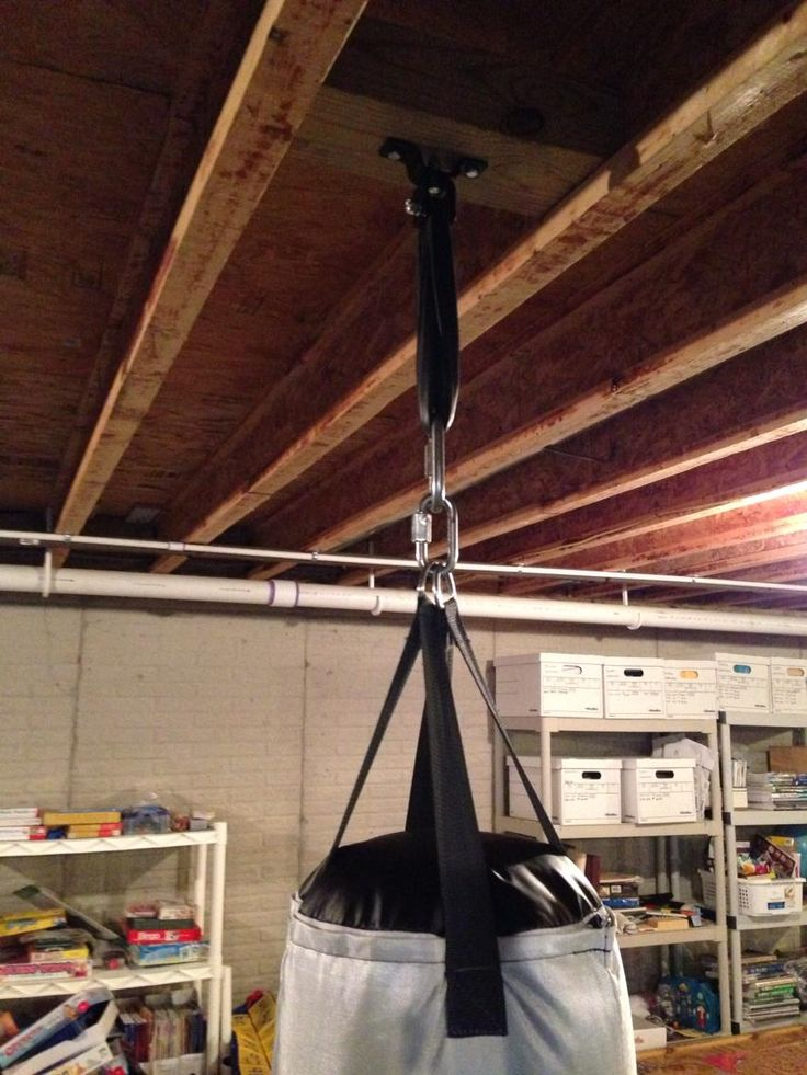 How To Hang A Heavy Bag From The Ceiling Punching Bag