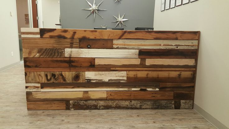 Service First Reception Desk | Reclaimed Wood & Iron