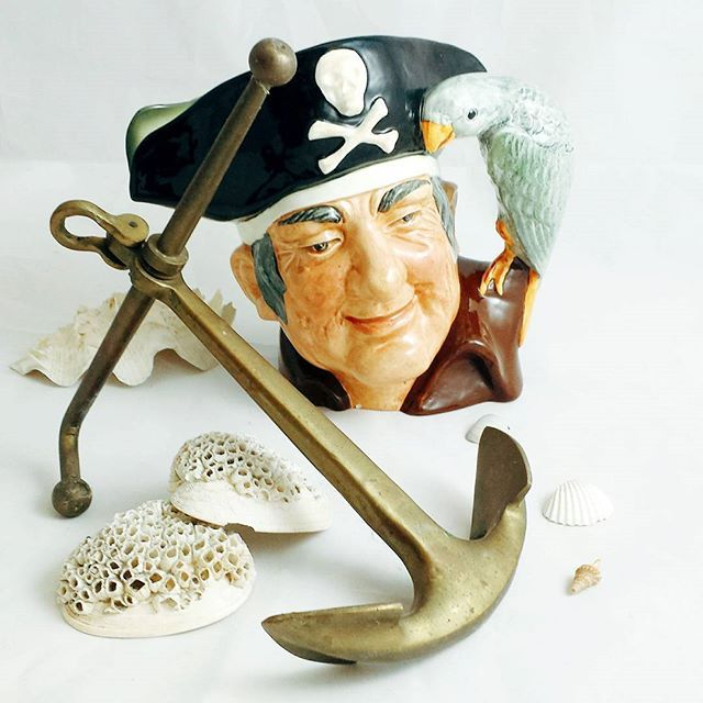 """""""Fifteen men on the Dead Man's Chest Yo-ho-ho, and a bottle of rum!""""  -Robert Louis Stevenson, Tresure Island    To all the pirates out there throw your anchor and came to hunt for tresures @ thesource929main.    #tobyjug #tobyjugs #nautical #antiques #antiqueshop #vancouverbc #vancouver #localbusiness #longjohnsilver #pirate #jollyroger #tresureisland #vintage #vintageshopping #vintageshop"""