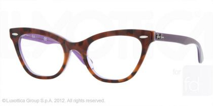 Cat Eye Glasses-Ray-Ban RX RX5226 Eyeglasses (Violet On Havana)