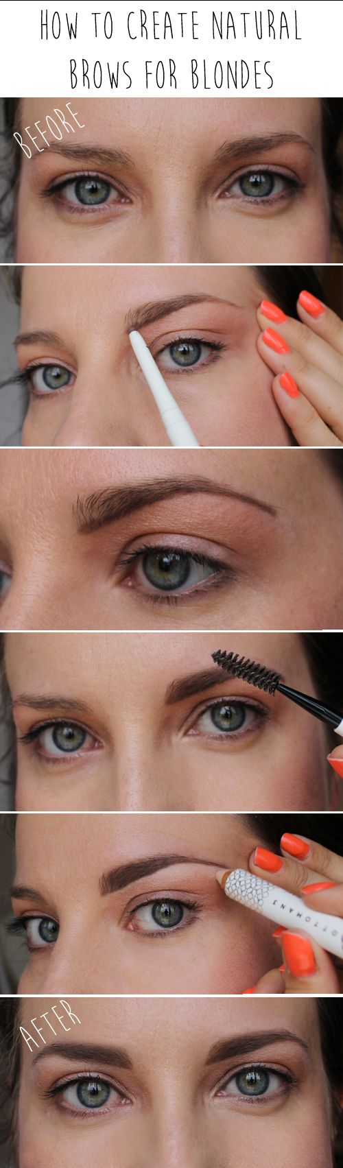 How to create natural brows for blondes