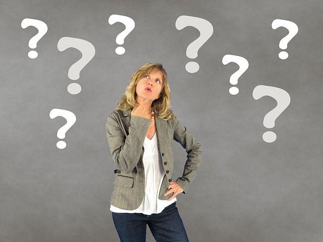 Frau, Fragezeichen, Person, Entscheidung, Nachdenklich
