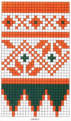 варежки орнаментом схемы
