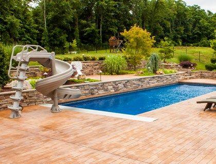 18 Best Concrete Pool Decks Images On Pinterest Swimming