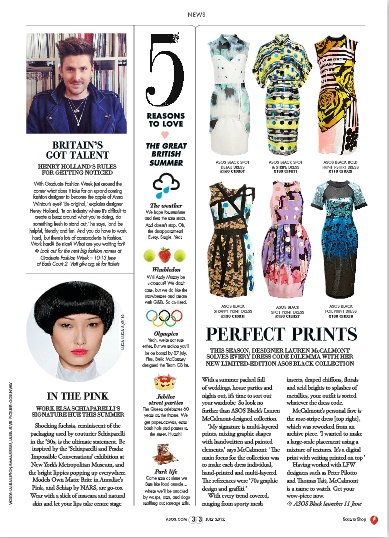 ASOS magazine - column layout