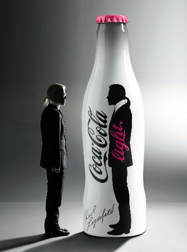 Karl Lagerfeld for Coca Cola Light ad.