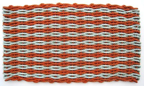 "Down East Doormats - Reclaimed Float-Rope Outdoor Doormat Fire & Ice Rag Rug (bright) Large (24"" x 36"") by The Maine Float-Rope Company. $109.95. Cleanup is a snap. Just shake the mat out or hose it down. It's quick drying too.. Resistant to mold and mildew, salt water and sun.. Colorful and pleasing to the eye, our doormats add a cheerful and warm welcome.. Handmade by local crafters in Maine. Each mat is one of a kind.. Recycled float-rope? - Float-rope is used by lobsterm..."