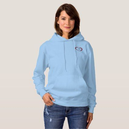 Baby Blue Love Affair with Thy Self Hoodie - love gifts cyo personalize diy