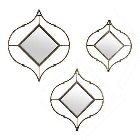 Cutout Bronze Mirrors, Set of 3 | Kirklands