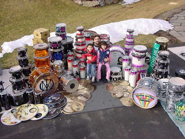 Mike Portnoy with all his drums.