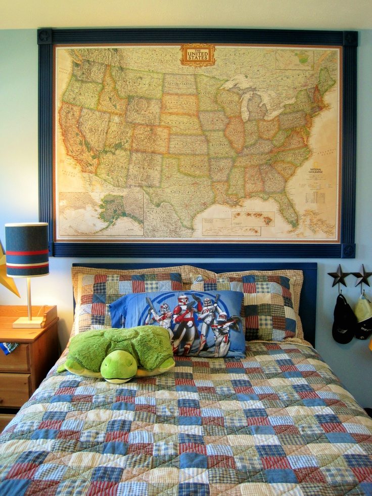 Best Boys Rooms Images On Pinterest Bedroom Ideas Kids - Boys room with maps