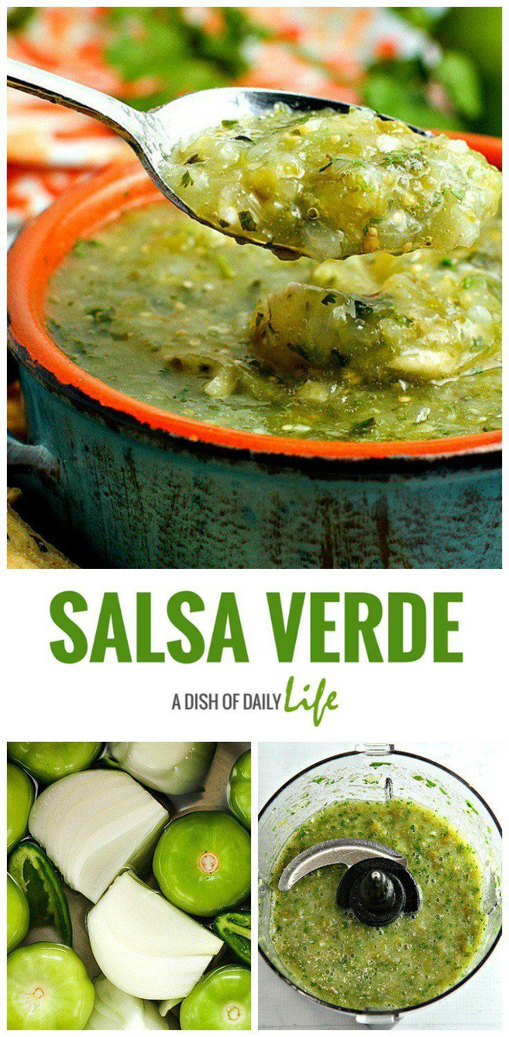 Authentic Salsa Verde...easy to make & so much better than the jarred stuff. Great with chips, or as a topping for enchiladas or burritos!