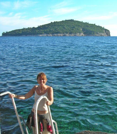Refreshing dip in the Adriatic Sea, Croatia