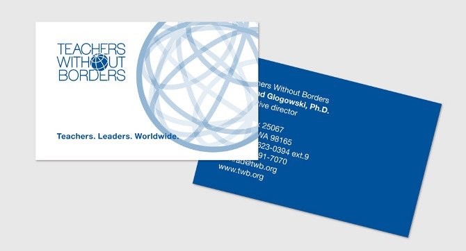 Teachers Without Borders Business Card / 2012 _ F A B R I C A _ Irina Gliudza