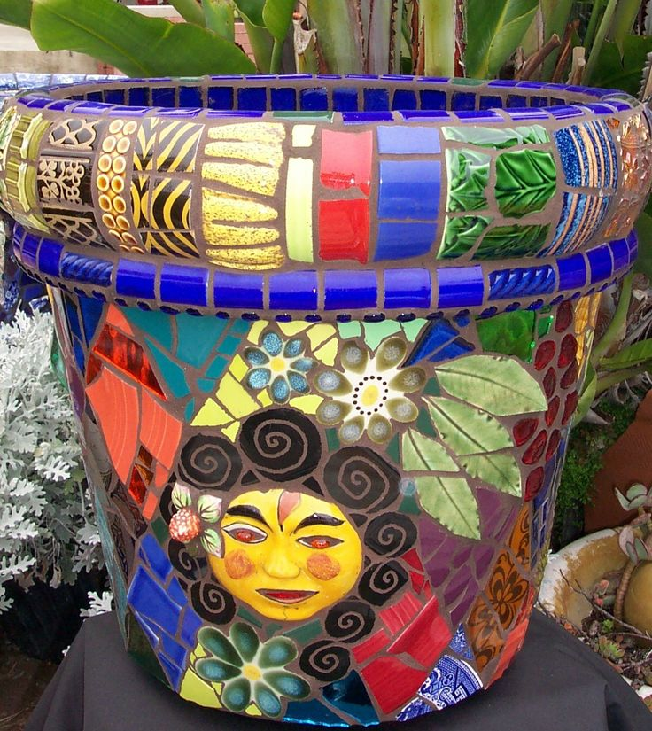 Mosaic Garden Art Piflora Mosaics Fred Donnell Pasion