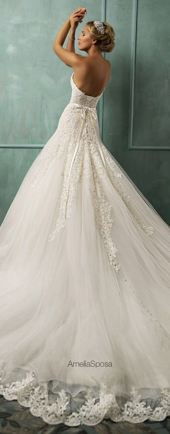 If you love glamorous silhouettes, feminine details, and elegant embellishments then this stunning 2014 Amelia Sposa collection is not going to disappoint.